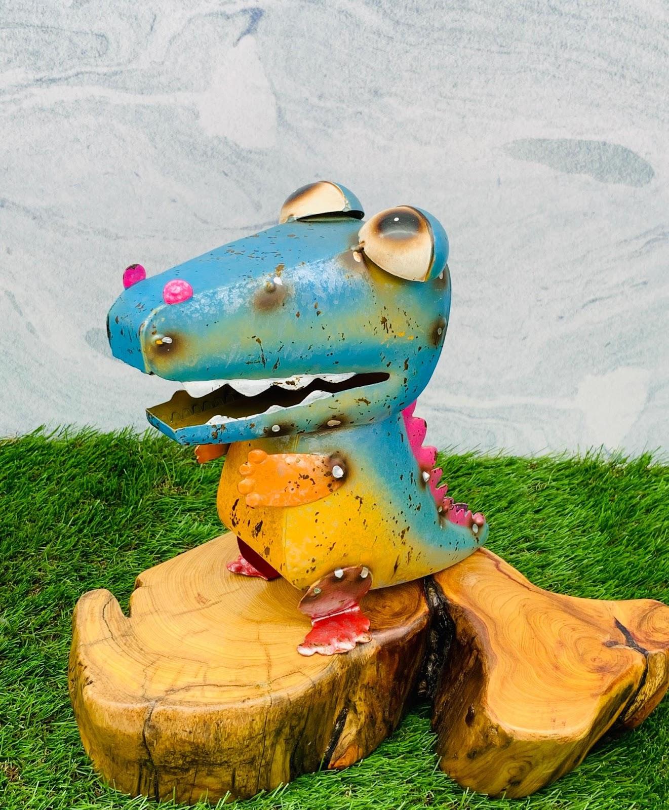 日本高山 絕版品限量供應 動物擺飾 繽紛恐龍 日本直送 日本設計 生鐵手作可愛多采風格擺飾 不會再有 把握機會 4