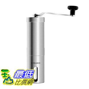 [106東京直購] E-PRANCE B0156GGZ0Q 手搖磨豆機 不鏽鋼 30G PORLEX可參考