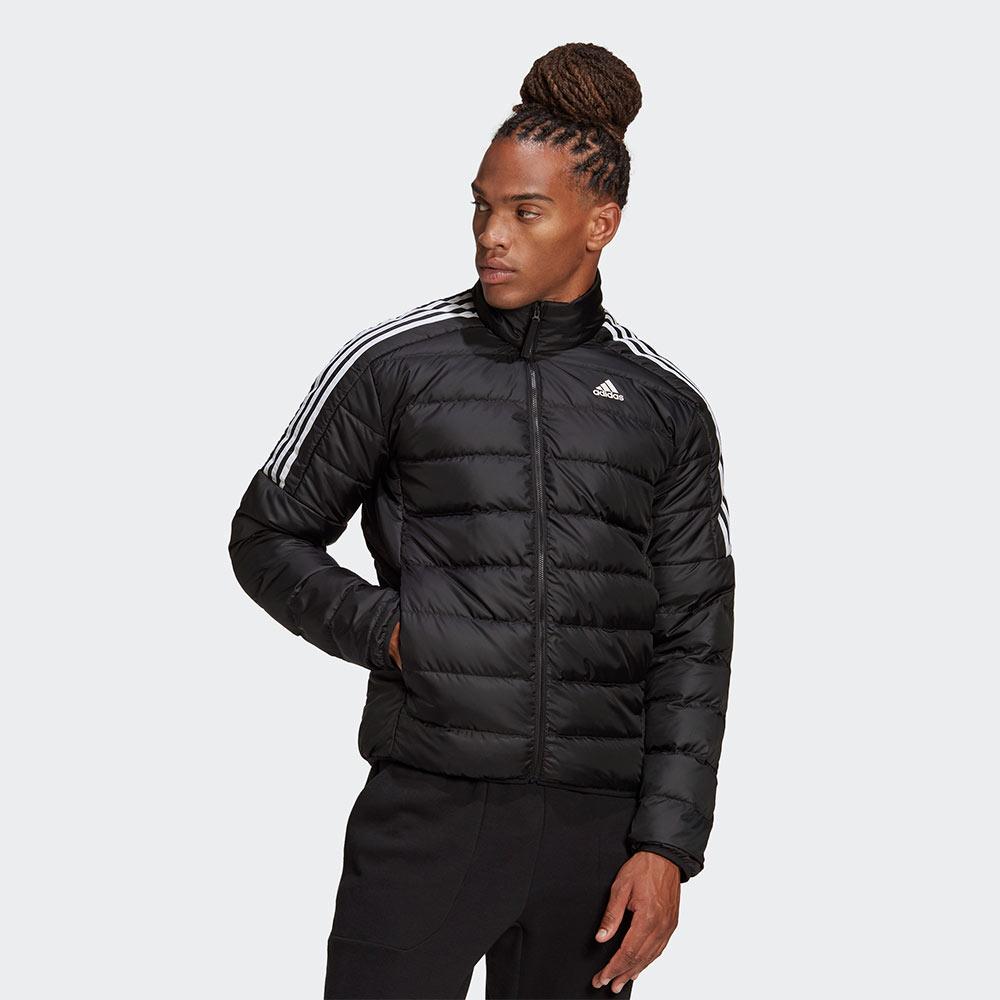 Adidas ESSENTIALS  男裝 羽絨外套 立領 休閒 保暖 口袋暗扣 黑【運動世界】GH4589