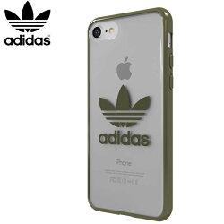 【adidas Originals】 4.7吋/5.5吋 iPhone7/8 i7/i8/7+/8+ 軍綠 經典三葉草 TPU Cover 邊框加厚 防摔手機套/透明軟殼/保護殼/背蓋/手機殼/保護套/28500/28503/TIS購物館
