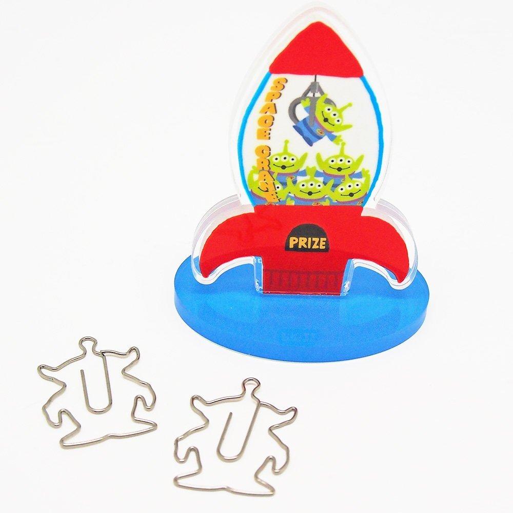 【真愛日本】16051300012迴紋針收納磁鐵立牌-火箭三眼怪   迪士尼 玩具總動員 TOY   收納筒 收納 文具