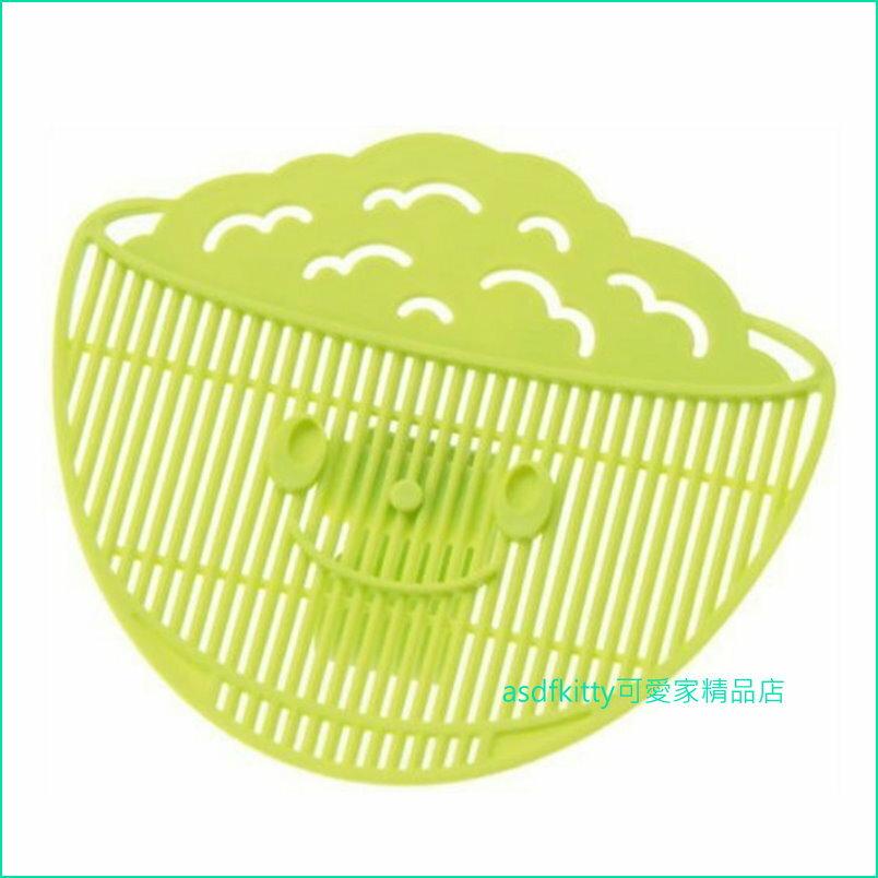 asdfkitty可愛家☆日本AKEBONO綠色瀝米板-洗米.紅豆.綠豆.薏仁.海帶芽.蔬菜...等-日本製