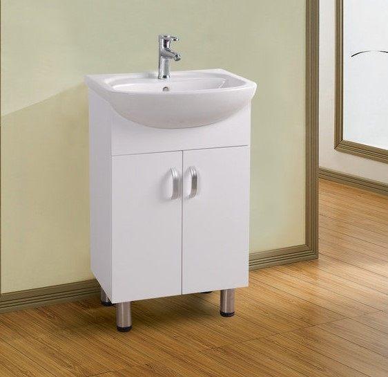 大肚盆浴櫃 龍頭全套組,防水發泡板鋼琴烤漆最省空間,收納力強,落地式 浴室櫃 洗臉盆寬50