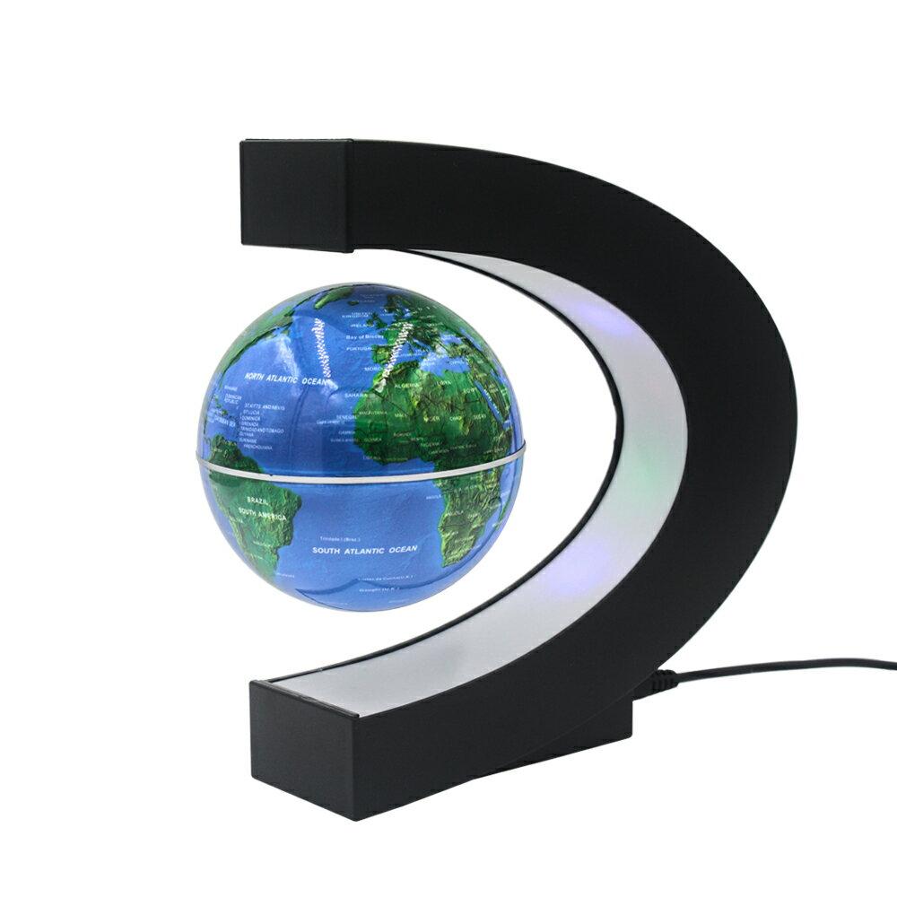 新奇小物 磁懸浮 浮動地球儀 反重力 LED燈 小夜燈