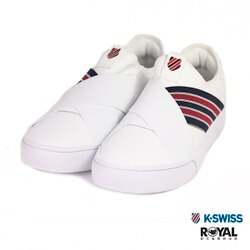 K-SWISS 新竹皇家 Court Lite 白色 皮質 繃帶 套入式 休閒鞋 女款 NO.I9388