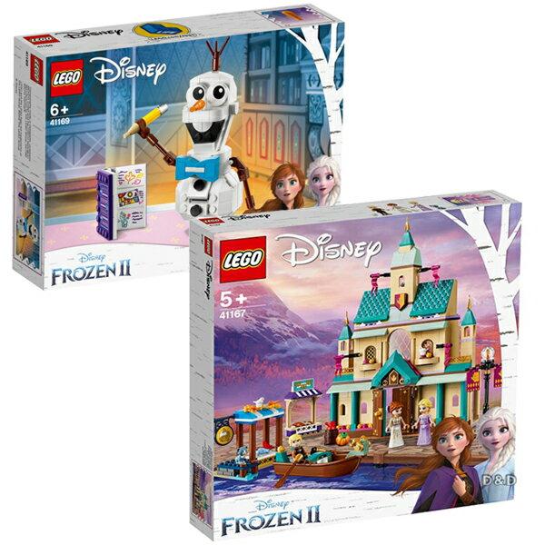 【雙12 SUPER SALE整點特賣12 / 04 10:00】樂高LEGO 迪士尼【冰雪奇緣2】獨賣組合(Arendelle Castle Villag+Olaf )-東喬精品百貨 0