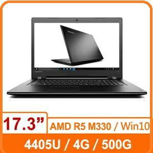 Lenovo IdeaPad IP300 80QH005LTW 17.3 吋 家用筆電 黑/4405U/4GB/500G/R5 M330/DRW/WIN10