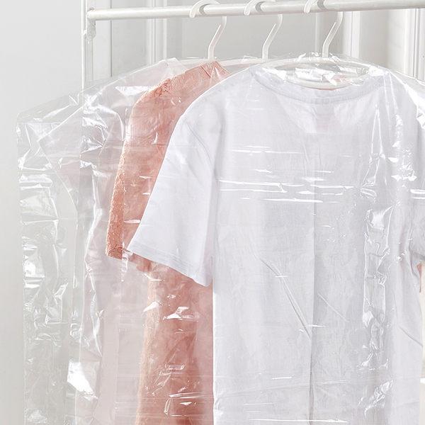Mycolor:♚MYCOLOR♚厚6絲透明塑料防塵袋衣物褲子收納拉鍊折疊防塵櫥櫃衣櫃防潮透氣【L57-3】