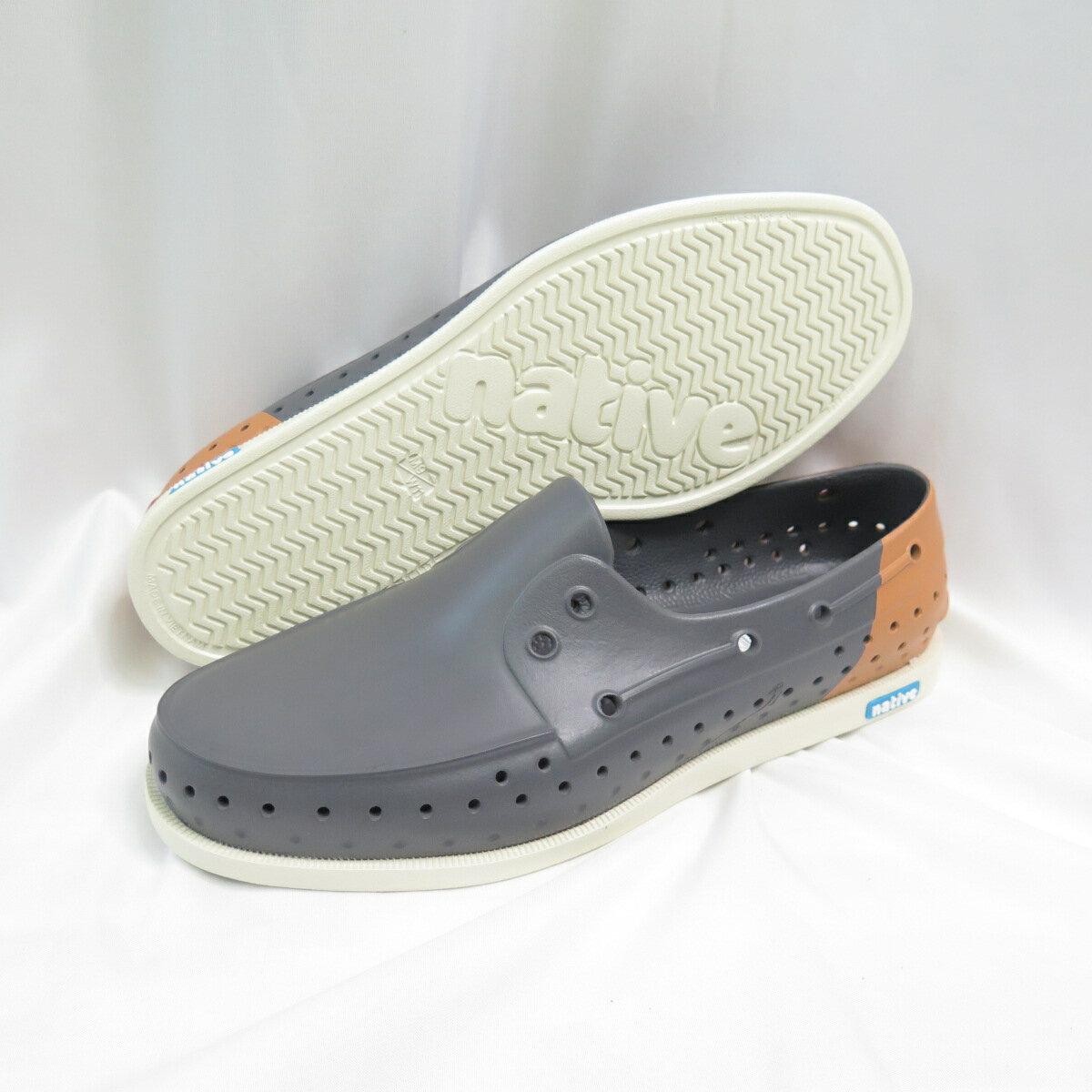 Native HOWARD BLOCK 洞洞鞋 休閒鞋 防水 男款 111011028935 灰咖【iSport愛運動】