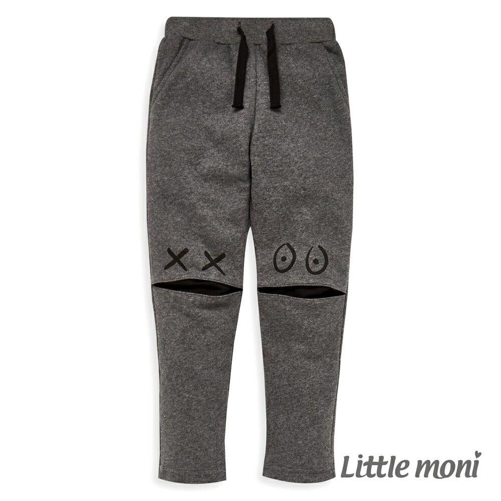 Little moni 怪獸造型休閒褲-鐵灰(好窩生活節) 0