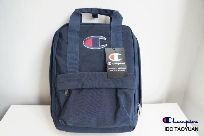 ►法西歐_桃園◄ Champion Backpack 日版 尼龍 電繡 Logo 後背包 可手提式 深藍 藍綠 桃紅 共三色 深藍