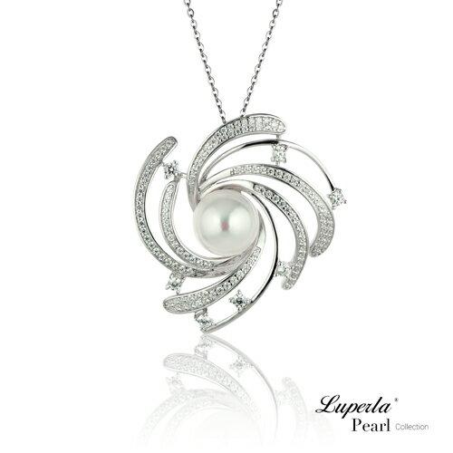 大東山珠寶 燦若繁星 純銀晶鑽珍珠項鍊 0