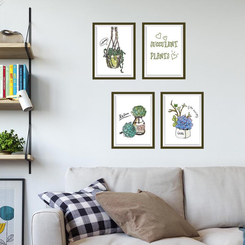 客廳北歐INS風格墻貼紙創意臥室床頭裝飾溫馨墻紙自粘小清新貼畫1入