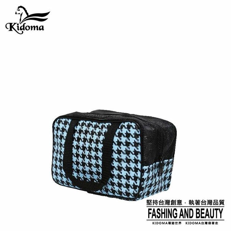 Kidoma餐袋系列-黑水藍千鳥 手提包 手提袋 編織包 購物袋 旅行組 台灣製造 防水