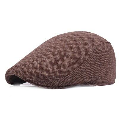 貝雷帽鴨舌帽-秋冬保暖純色簡約男女帽子73tv122【獨家進口】【米蘭精品】