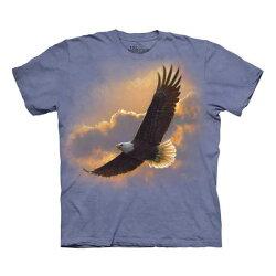 【摩達客】美國進口The Mountain  高空飛鷹(預購) 純棉環保短袖T恤保短袖T恤