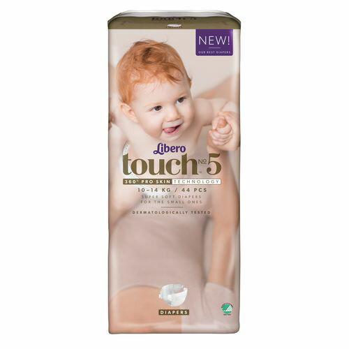 ★衛立兒生活館★麗貝樂 Libero touch 嬰兒紙尿褲5號-44片x4包(尿布)箱購