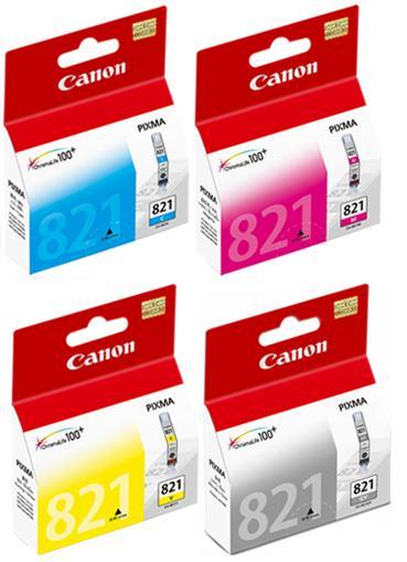 【台灣耗材】CANON原廠墨水匣CLI-821 bk/CLI-821C/CLI-821M/CLI-821Y(單顆報價顏色任選) 適用iP3680/iP4680/MP638/MX868 印表機