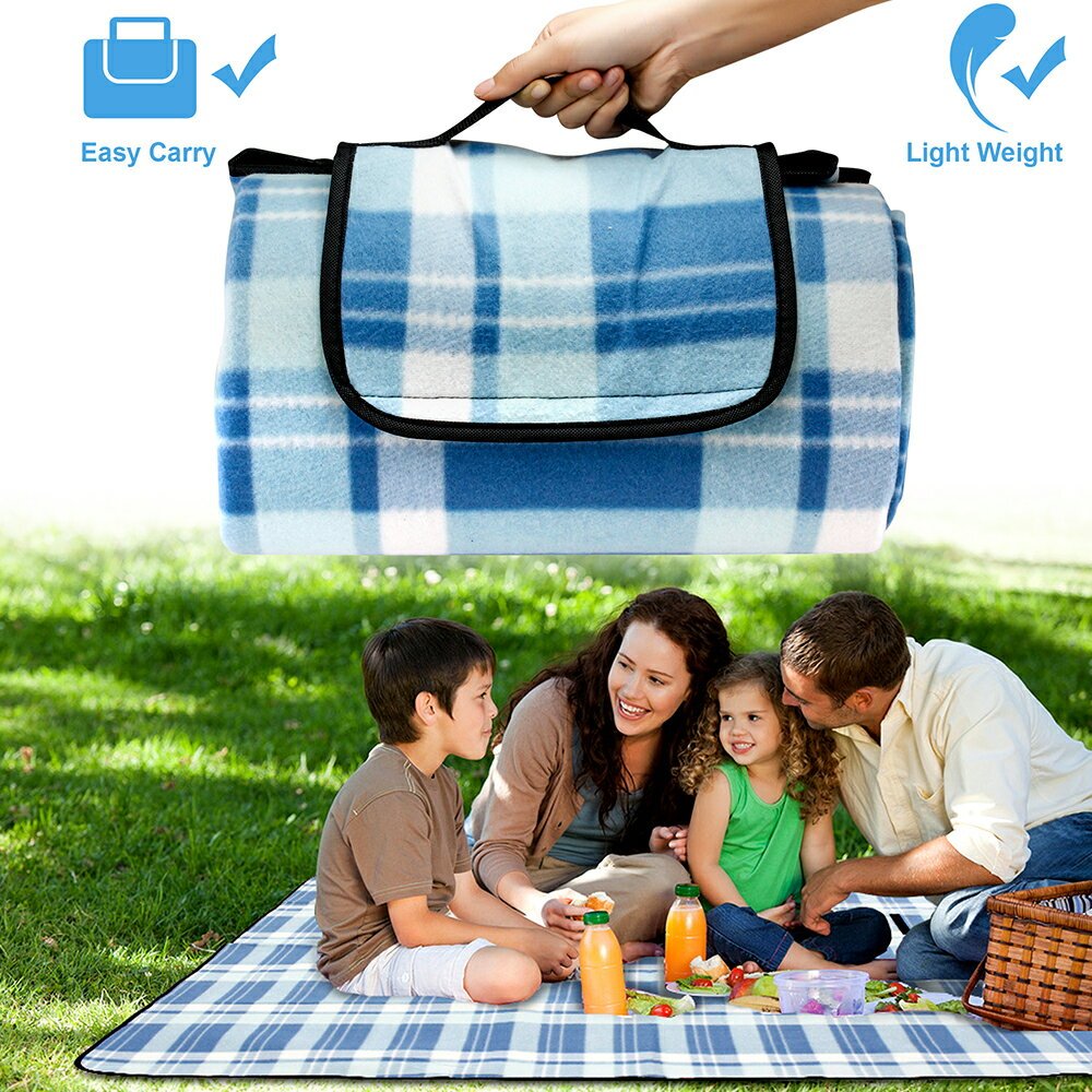 Outdoor Waterproof Picnic Blanket For Foldable Beach Mat Sleeping Pads Camping Hiking Rug 9