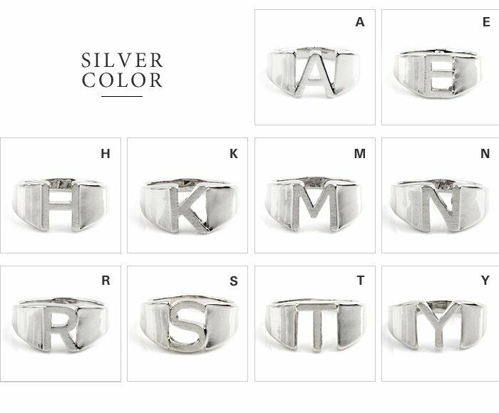 日本CREAM DOT  /  リング 指輪 レディース 15号 ワイドリング ファッションリング イニシャル ヘアライン加工 大人カジュアル シンプル 可愛い ゴールド シルバー  /  a03578  /  日本必買 日本樂天直送(1290) 4