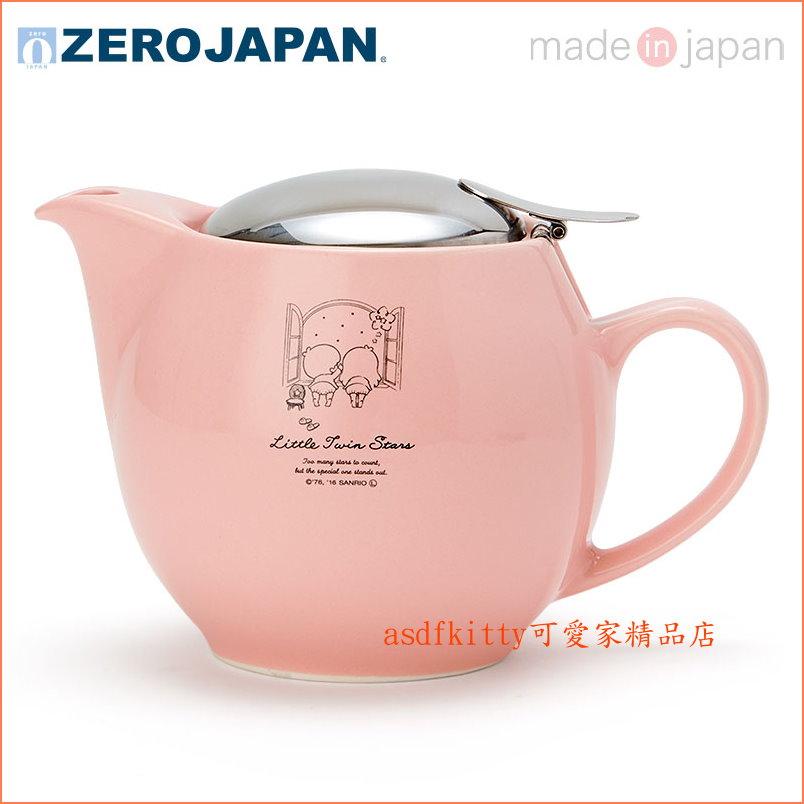 asdfkitty可愛家~ZERO JAPAN雙子星陶瓷茶壺~ 製