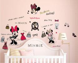 迪士尼授權 時尚米妮創意壁貼 GID025