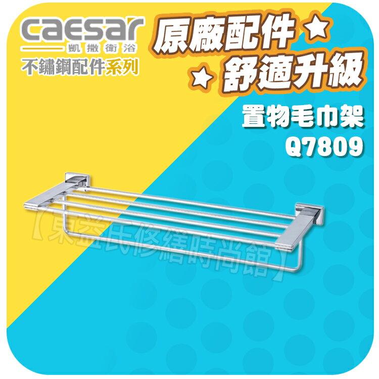 Caesar凱薩衛浴 單桿毛巾架 Q7809 不銹鋼配件系列【東益氏】漱口杯架 置物架 衛生紙架 香皂盤