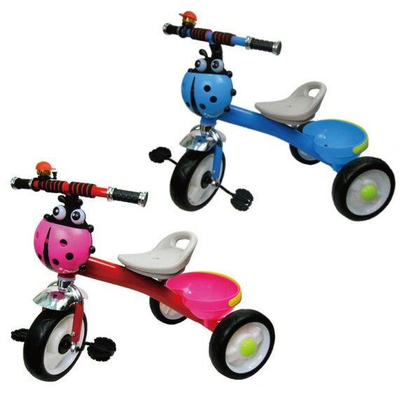麗嬰兒童玩具館~音樂聲光瓢蟲三輪車 腳踩單人三輪車/平衡車