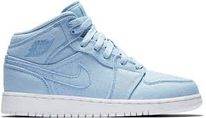 NIKE AIR JORDAN RETRO 1 MID 粉藍 大童/女鞋 US 4~7 554725-425 A