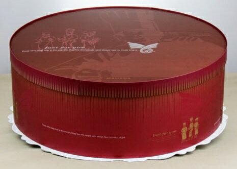 【基本量】圓型蛋糕盒貝克家族16吋/30個(無提繩)