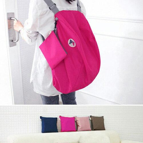 旅行袋 糖果色可折疊多功能後背包收納包【MJD882】 BOBI  05 / 12 - 限時優惠好康折扣