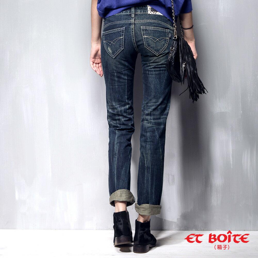 男友風刷色牛仔褲(2色) - BLUE WAY  ET BOiTE 箱子 8