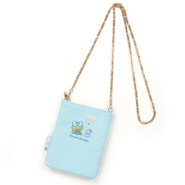 X射線【C476505】大眼蛙Keroppi 斜背手機包,美妝小物包/媽媽包/面紙包/化妝包/零錢包/收納包/皮夾/手機袋/鑰匙包