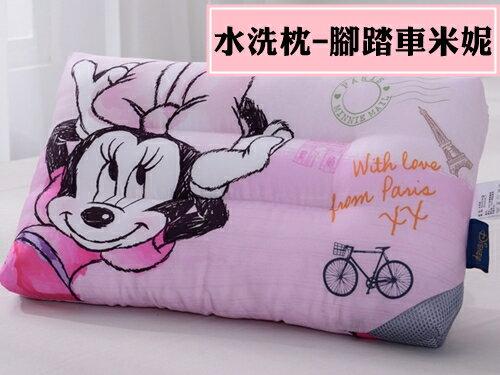 舒柔棉水洗枕兒童迪士尼款-腳踏車米妮