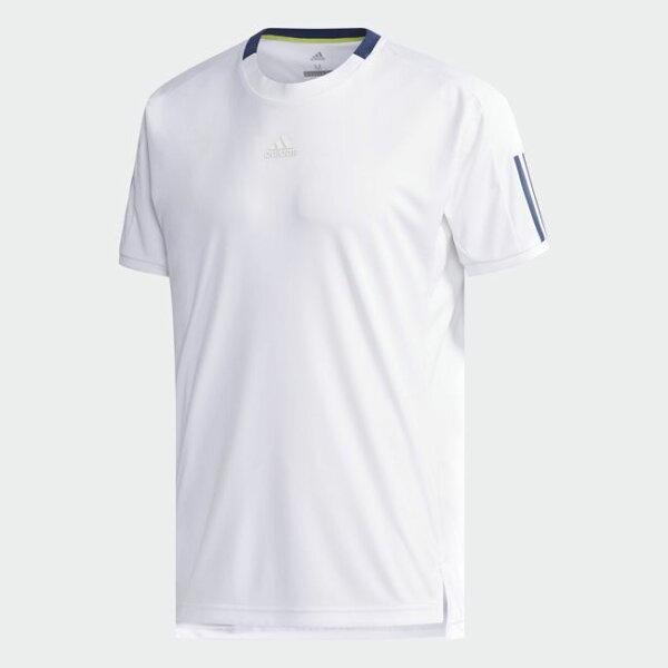 ADIDASCCTCLUB3STEE男裝上衣短袖慢跑網球訓練透氣排汗白【運動世界】CF7974
