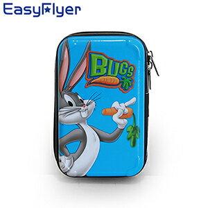 EasyFlyer 易飛翔-LOONEY TUNES 樂一通 PC亮面硬殼 化妝盥洗過夜手拿包-兔巴哥