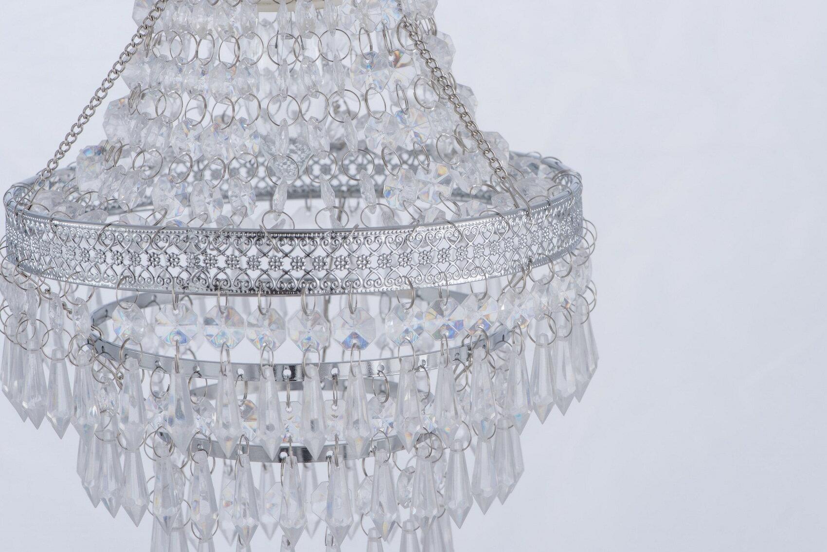 鍍鉻色華麗透明壓克力珠吊燈-BNL00022 2