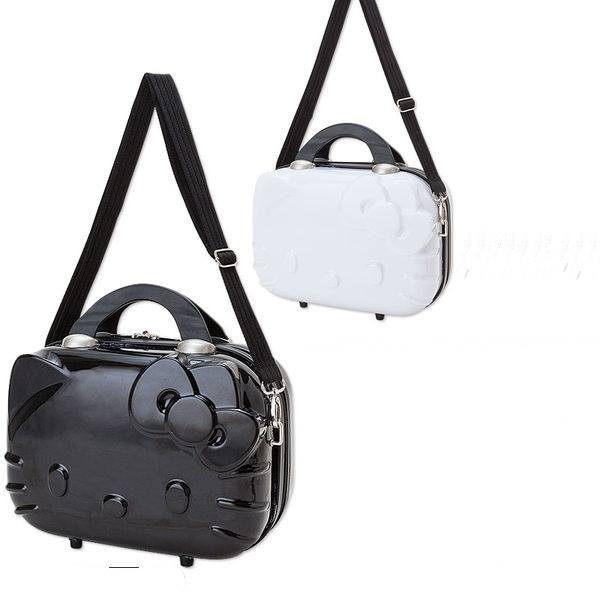 直送 Hello Kitty臉型硬殼 旅行箱 行李箱 ^(附背帶^) 白色、黑色