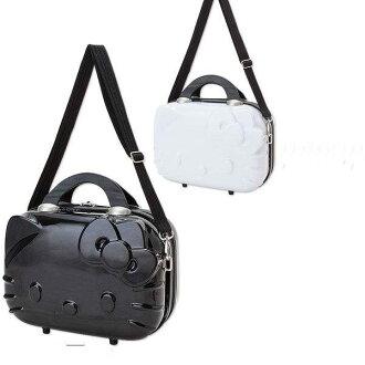 日本直送 Hello Kitty臉型硬殼 旅行箱 行李箱 (附背帶) 白色、黑色
