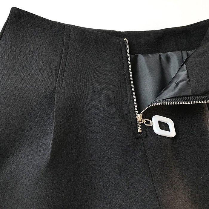 短褲 素色 壓摺 金屬 拉鍊 時尚 寬管褲 百搭 短褲【HA847】 BOBI  02 / 14 5