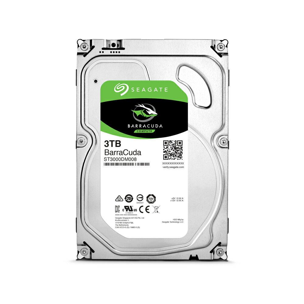 Seagate【BarraCuda】新梭魚3TB 3.5吋桌上型硬碟(ST3000DM008)