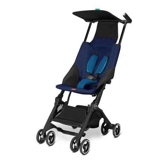 【預購2月底到貨】【Goodbaby】Pockit 折疊嬰兒手推車(深藍色) CAPRI BLUE 616230005