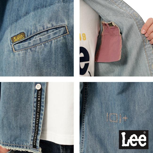 Lee 牛仔長袖襯衫 101+ 男款 淺藍 4