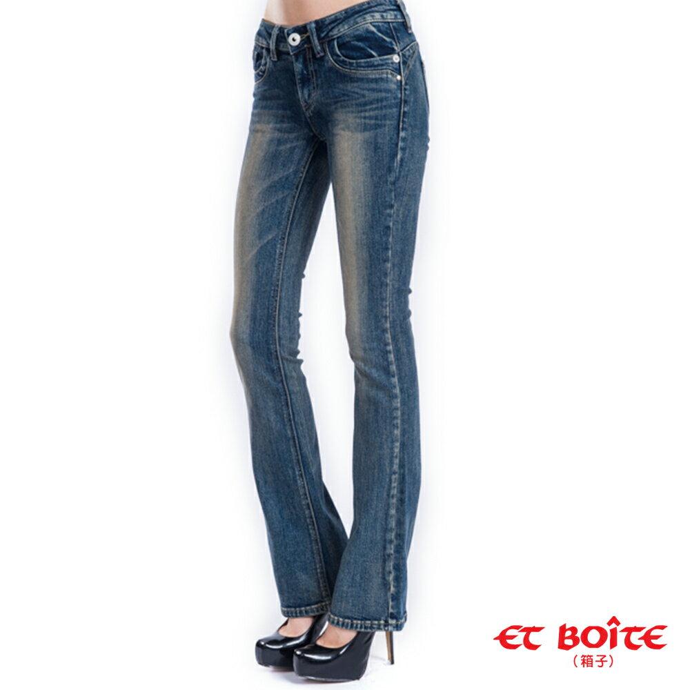 【限時5折↘】經典翹臀靴型褲 - BLUE WAY  ET BOiTE 箱子 1