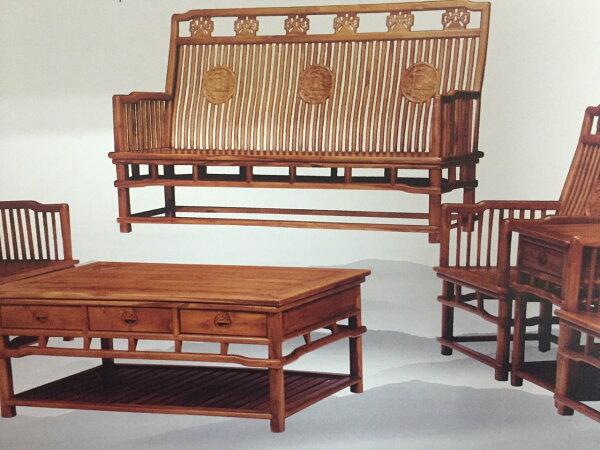 【石川家居】KL-02柚木八件明式組椅台中以北搭配車趟免運費