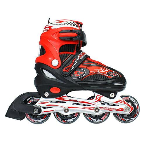 成功鋁合金伸縮直排鞋 溜冰鞋-黑