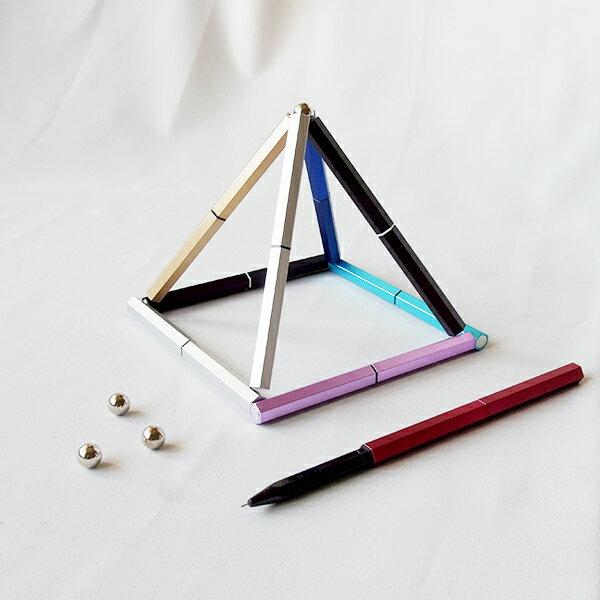 【aife life】智力磁性筆/磁鐵積木創意中性筆/舒壓多功能組合旋轉磁力筆/創意腦力激發趣味玩物文具/贈品禮品
