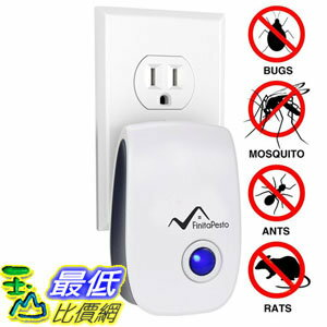 [106美國直購] Pest 超聲波驅蟲器 Control Ultrasonic Repellent by Finita Pesto - Electronic Plug In Repeller