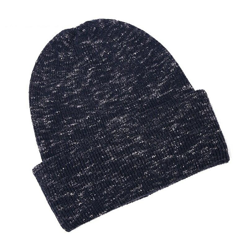 毛帽羊毛針織帽-簡約提花捲邊保暖男帽子2色73wj27【獨家進口】【米蘭精品】 2