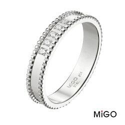 AnnShop【米格MiGO‧漾動白鋼戒指】【男款】鋼飾飾品/情人禮物 SR725
